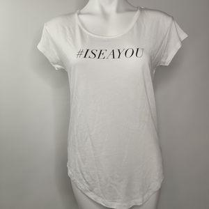 Rails #ISEAYOU t-shirt by The Swim Report Oceana